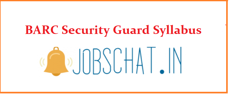 BARC Security Guard Syllabus