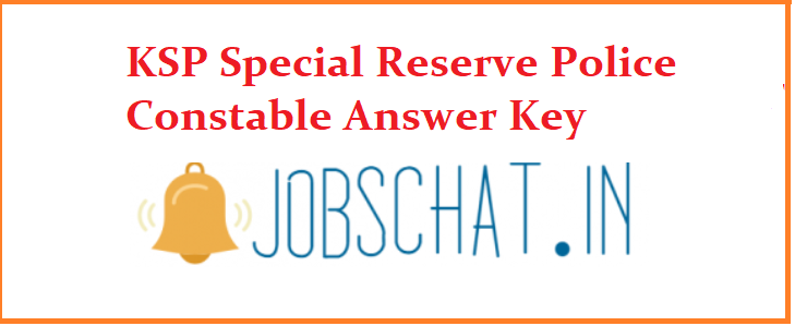 KSP Special Reserve Police Constable Answer Key