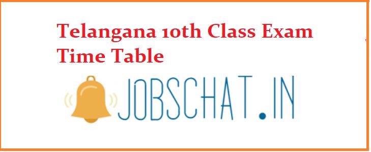 Telangana 10th Class Exam Time Table