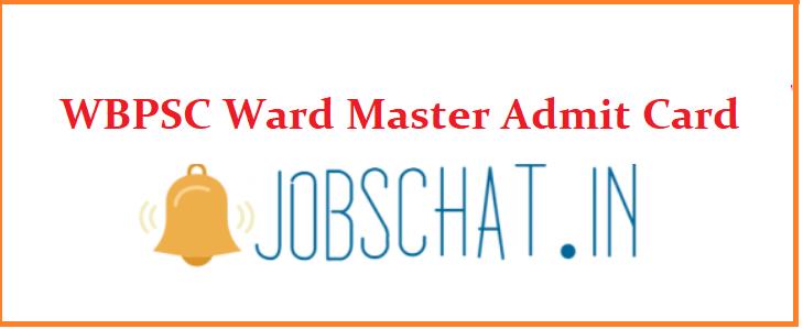 WBPSC Ward Master Admit Card