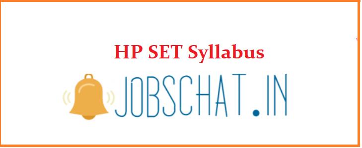 HP SET Syllabus