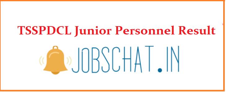 TSSPDCL Junior Personnel Result