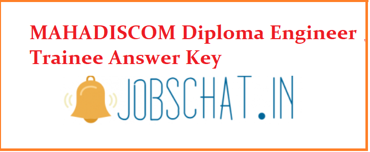 MAHADISCOM Diploma Engineer Trainee Answer Key