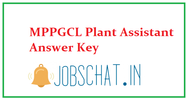 MPPGCL Plant Assistant Answer Key