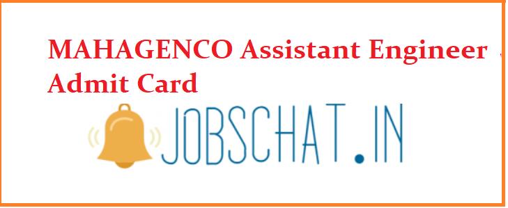 MAHAGENCO Assistant Engineer Admit Card