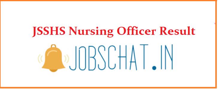 JSSHS Nursing Officer Result