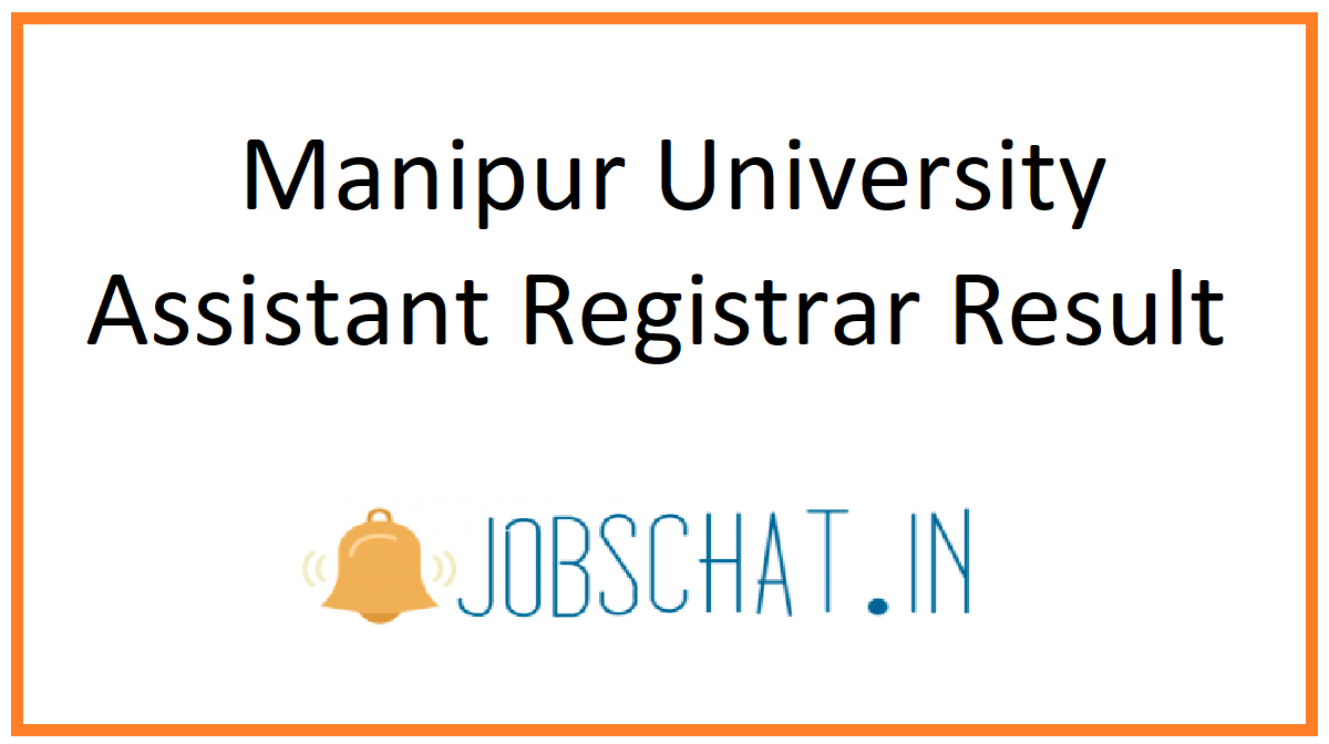 Manipur University Assistant Registrar Result