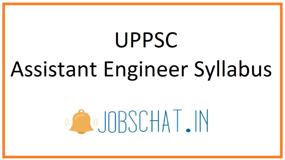 UPPSC Assistant Engineer Syllabus