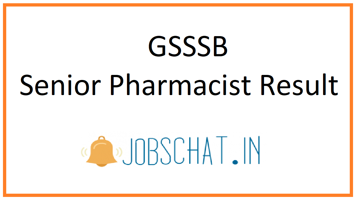 GSSSB Senior Pharmacist Result