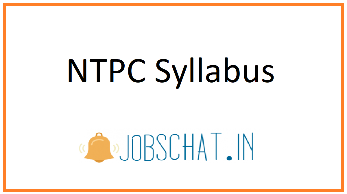NTPC Syllabus