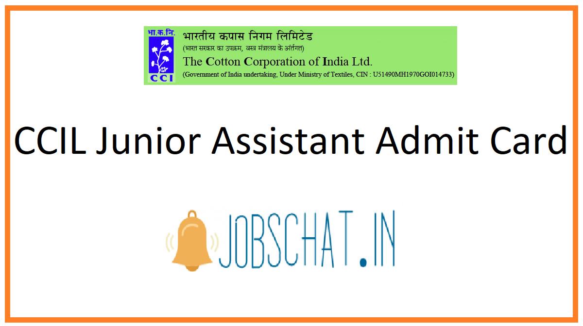 CCIL Junior Assistant Admit Card