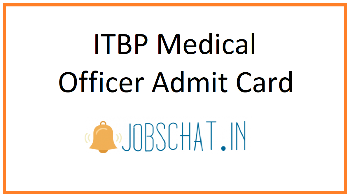 ITBP Medical Officer Admit Card