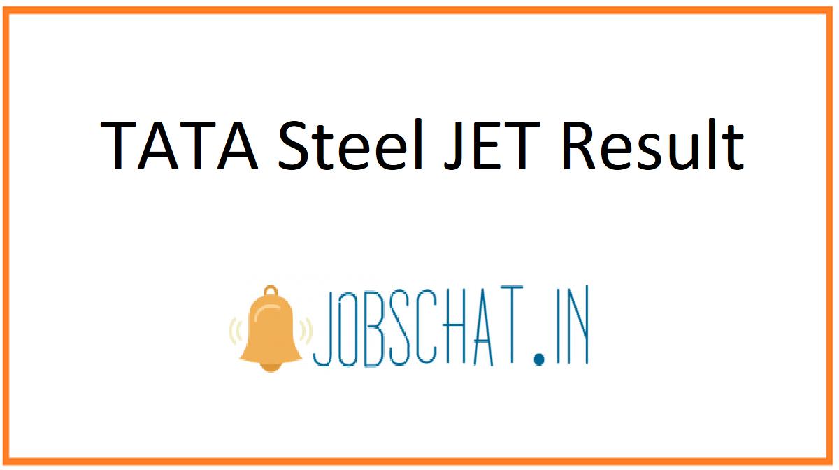 TATA Steel JET Result