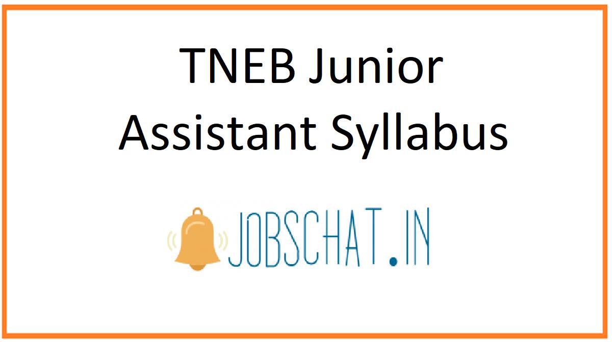 TNEB Junior Assistant Syllabus