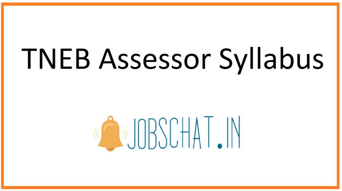 TNEB Assessor Syllabus