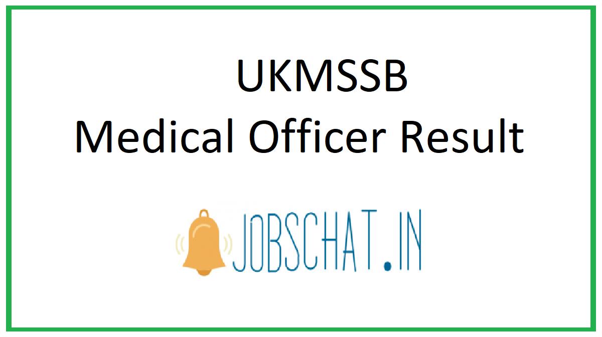 UKMSSB Medical Officer Result