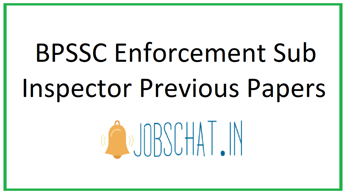 BPSSC Enforcement Sub Inspector Previous Papers