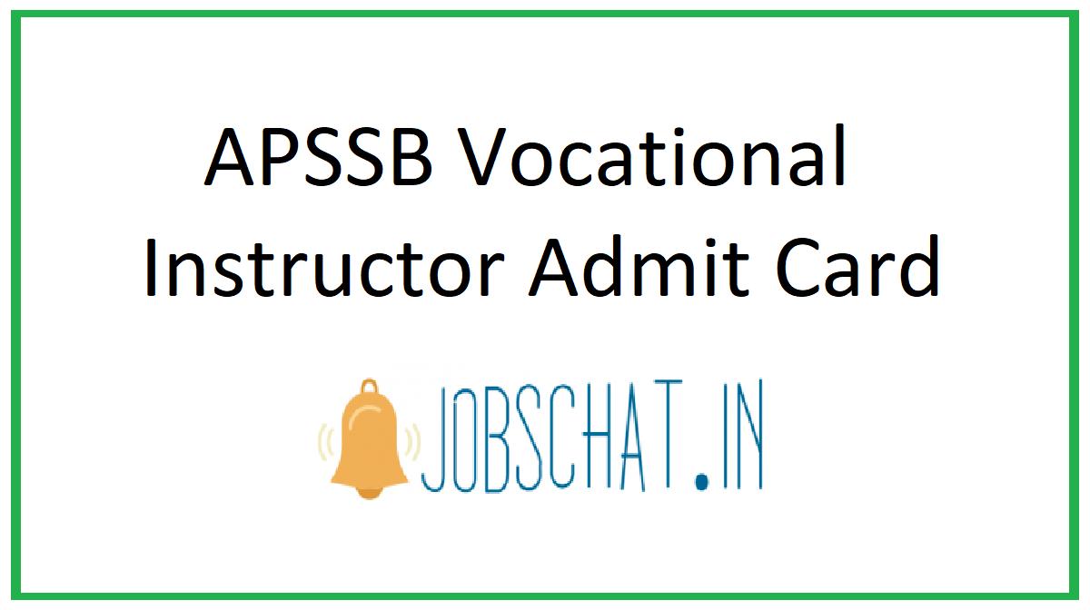 APSSB Vocational Instructor Admit Card