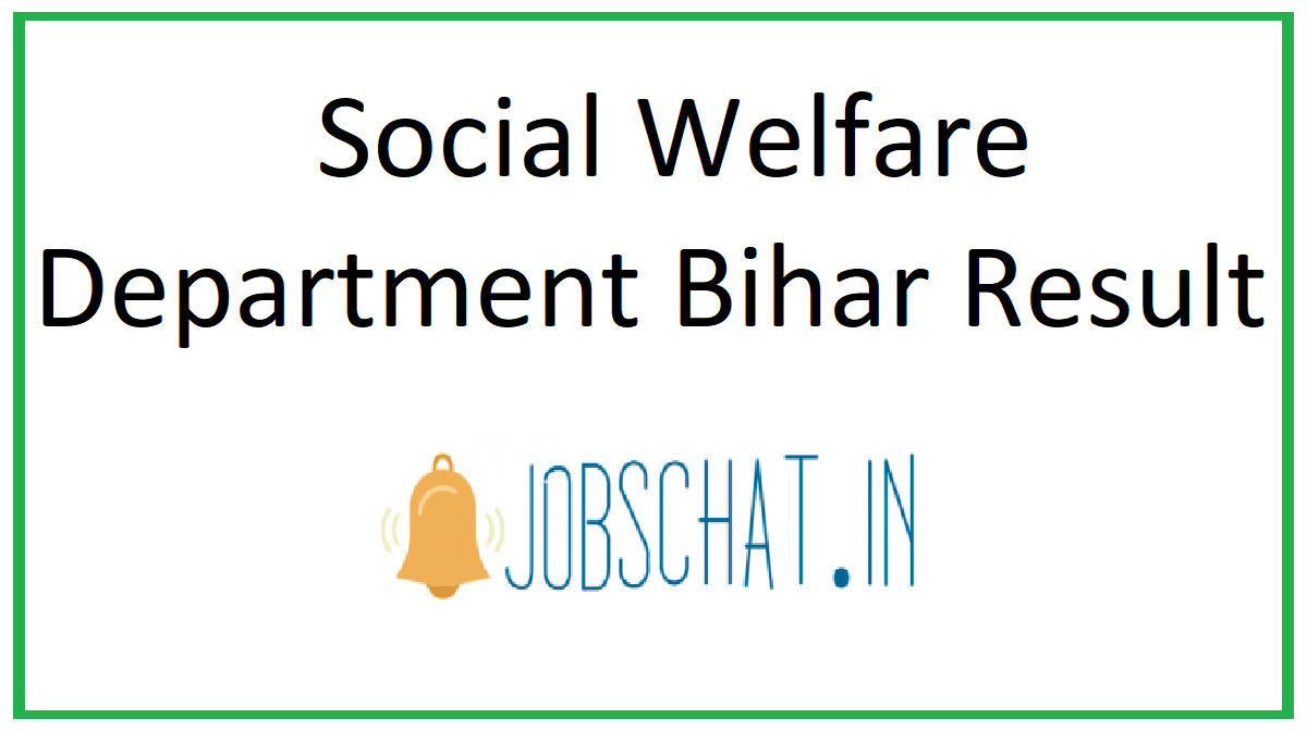 Social Welfare Department Bihar Result