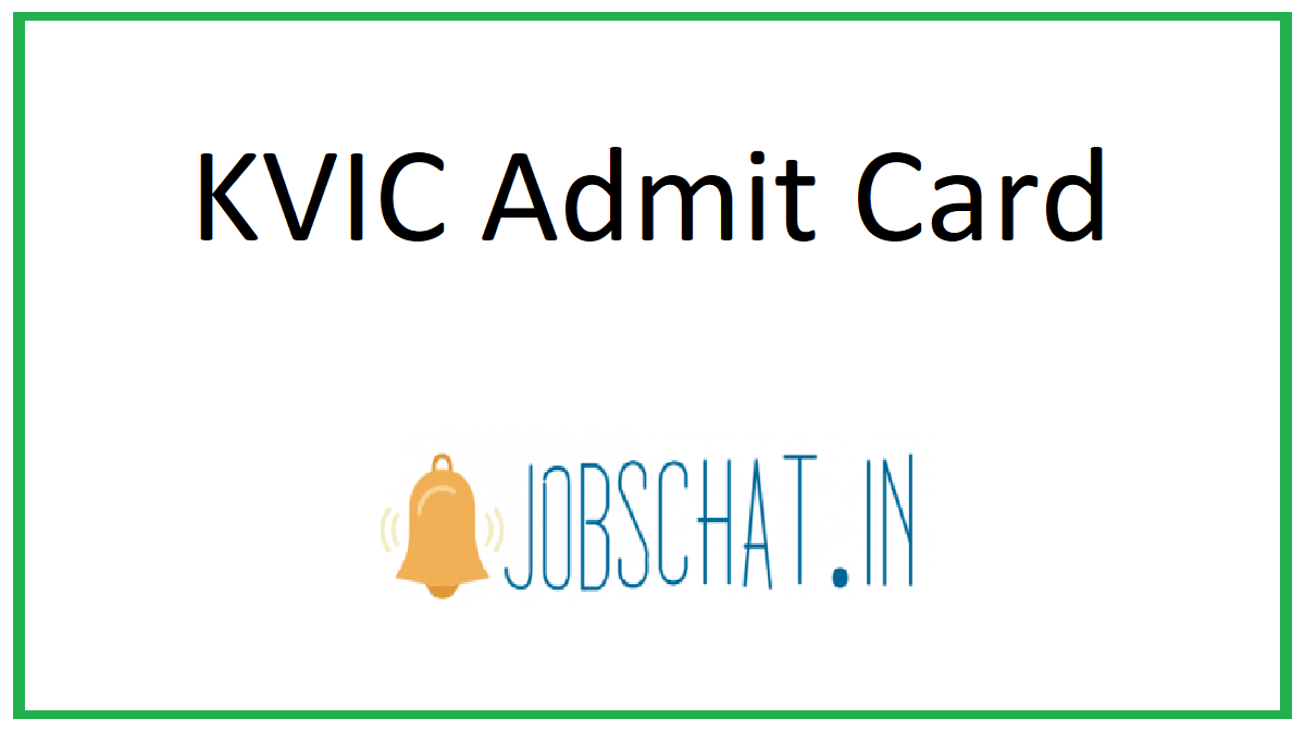 KVIC Admit Card