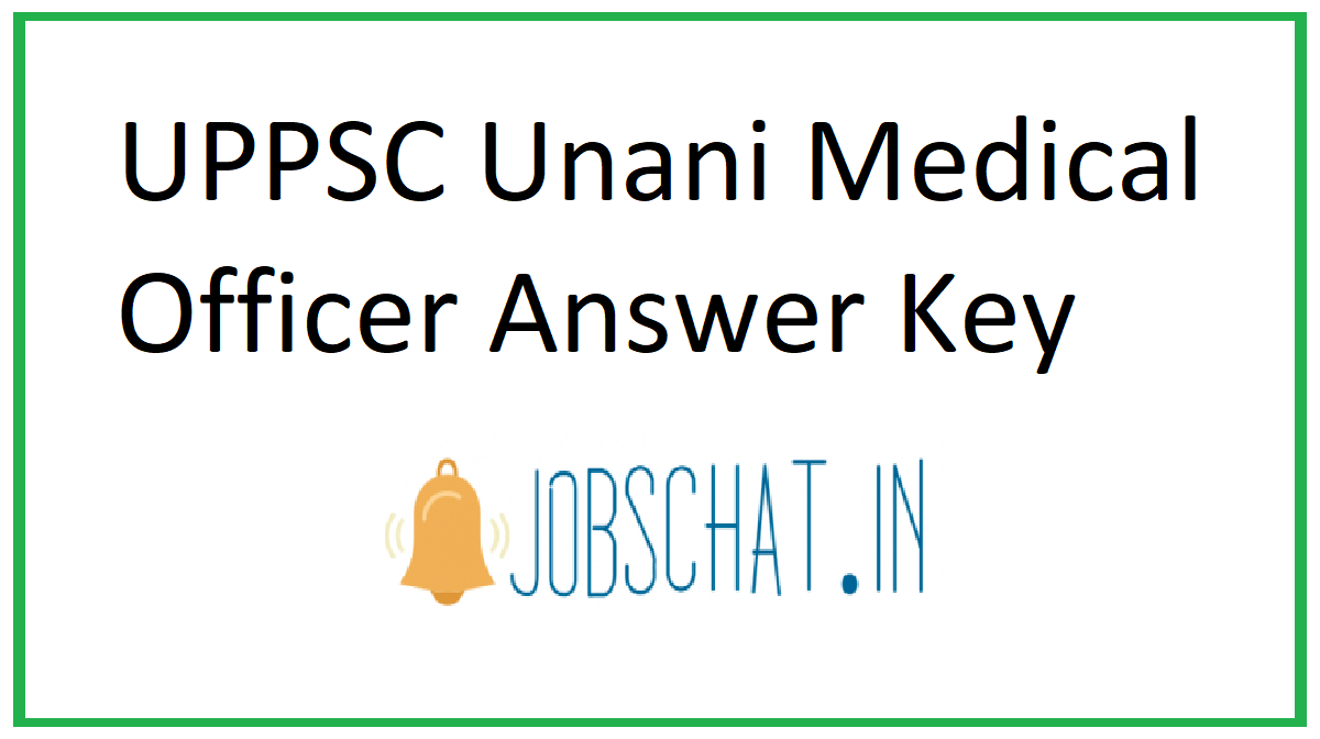 UPPSC Unani Medical Officer Answer Key
