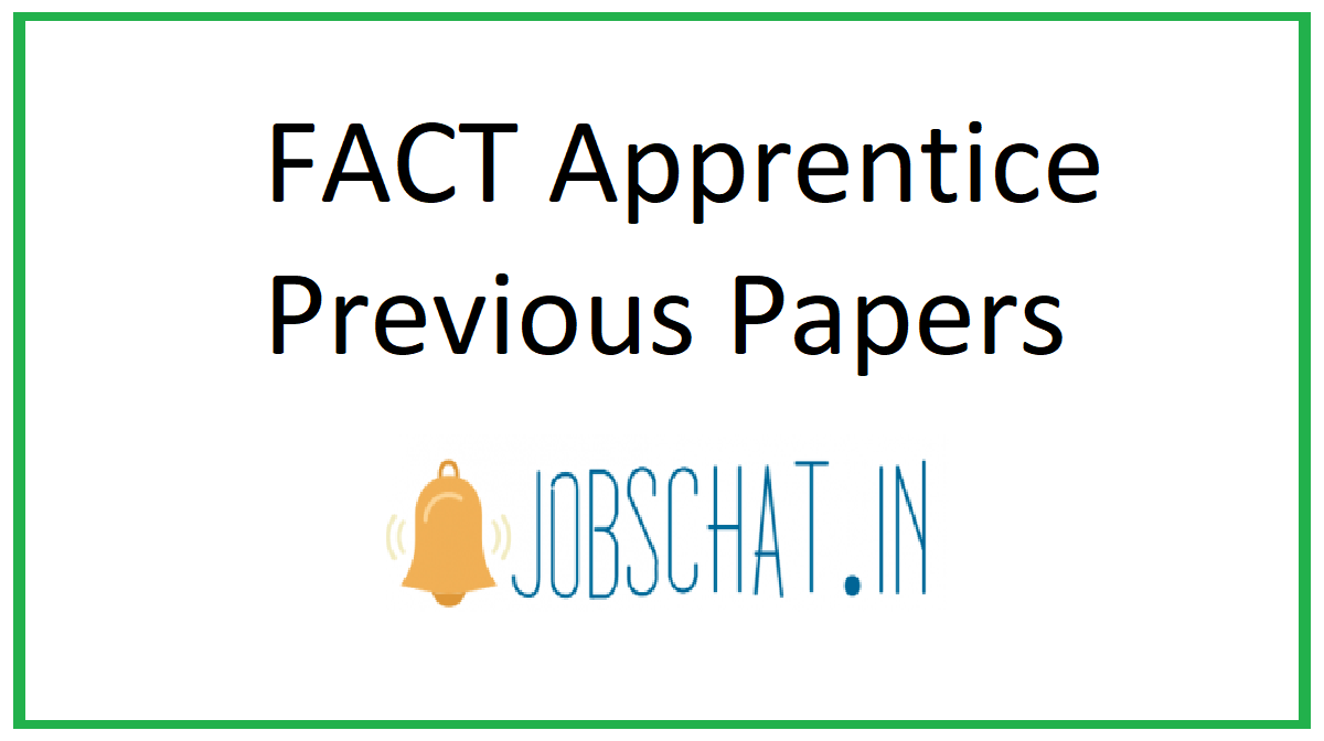 FACT Apprentice Previous Papers