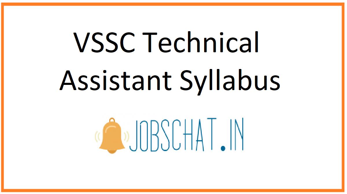 VSSC Technical Assistant Syllabus