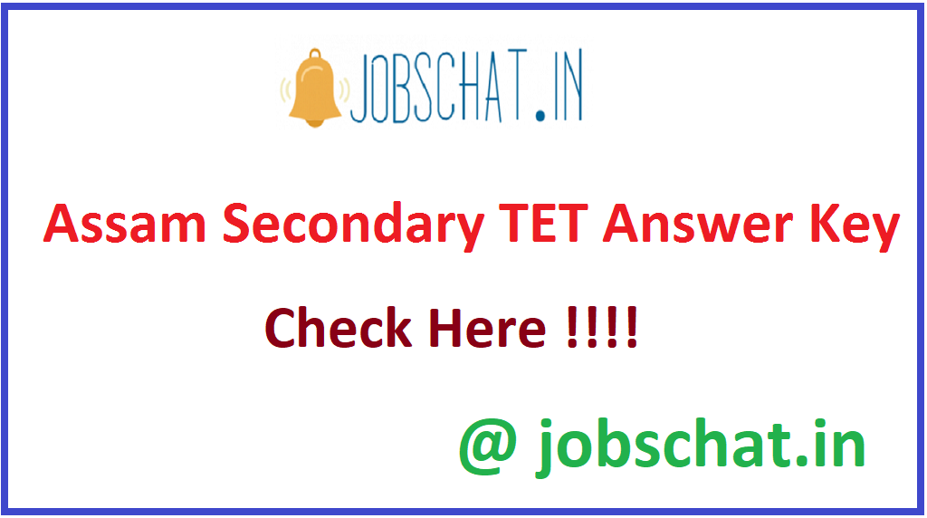 Assam Secondary TET Answer Key