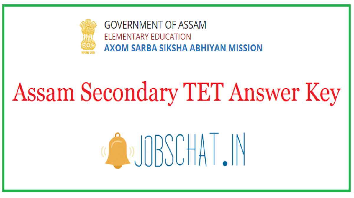 Assam Secondary TET Answer Key