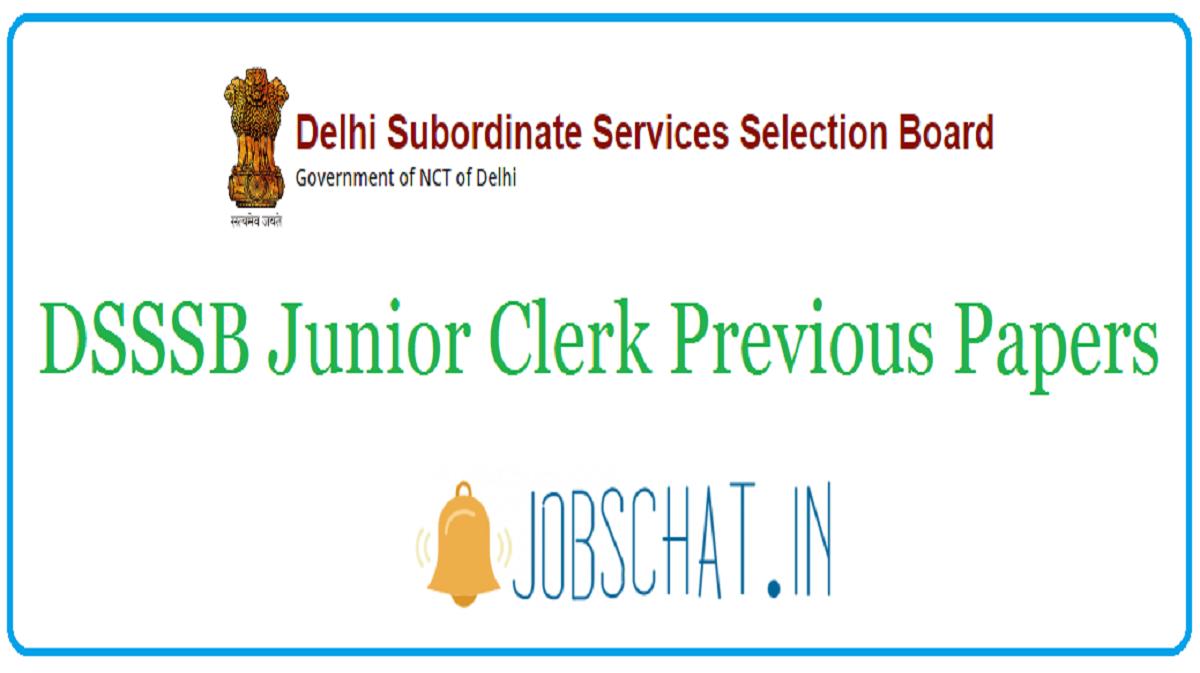 DSSSB Junior Clerk Previous Papers