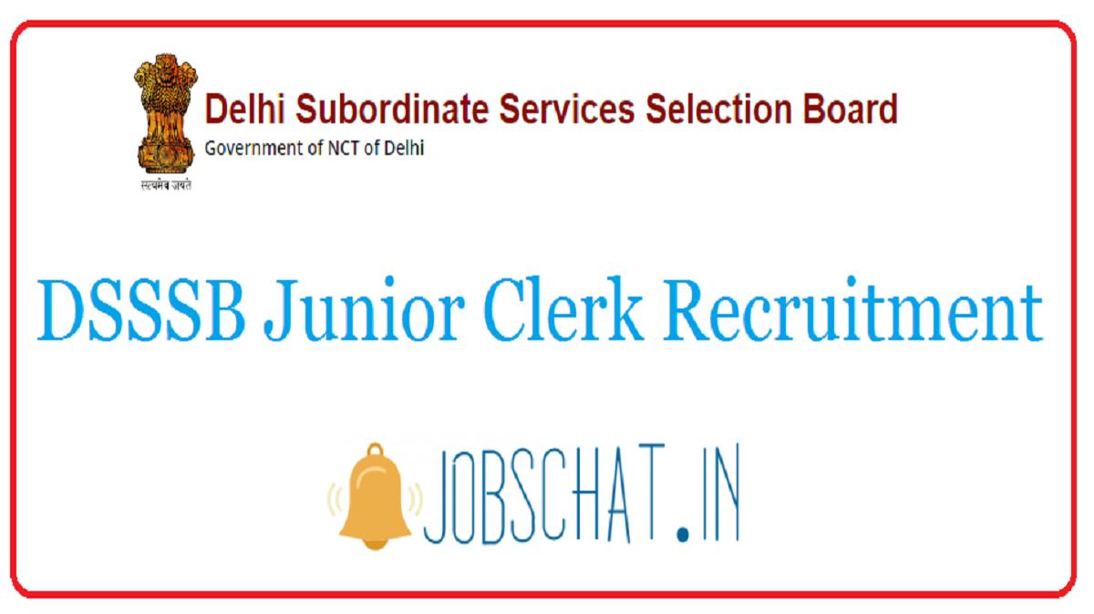 DSSSB Junior Clerk Recruitment
