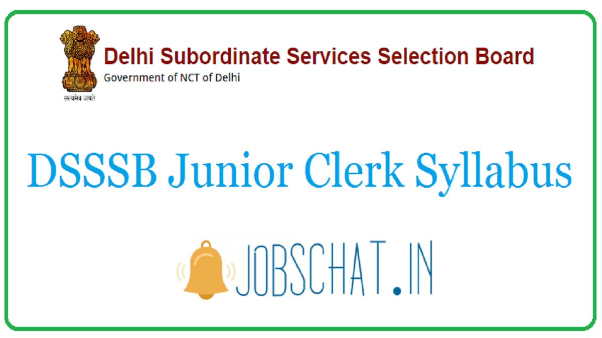 DSSSB Junior Clerk Syllabus
