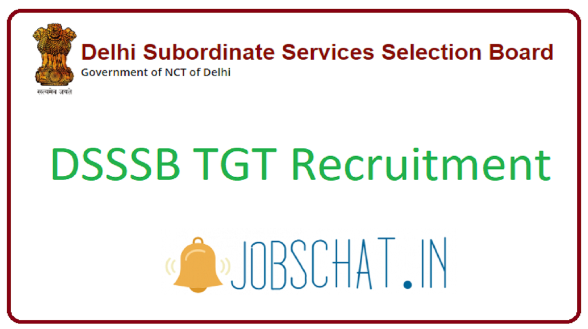 DSSSB TGT Recruitment