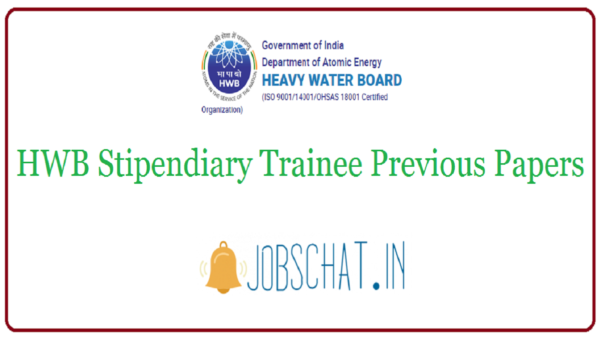 HWB Stipendiary Trainee Previous Papers