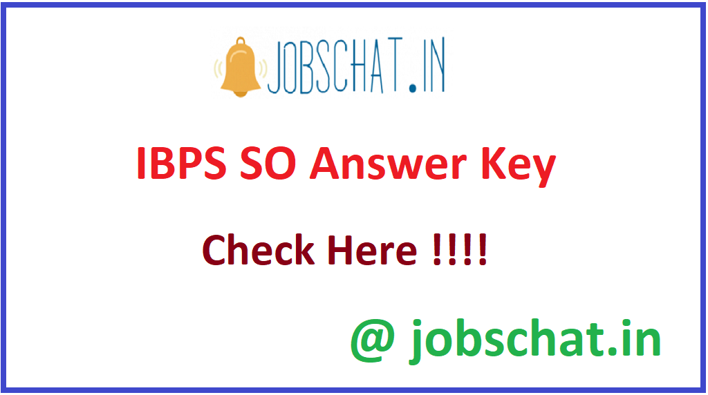 IBPS SO Answer Key