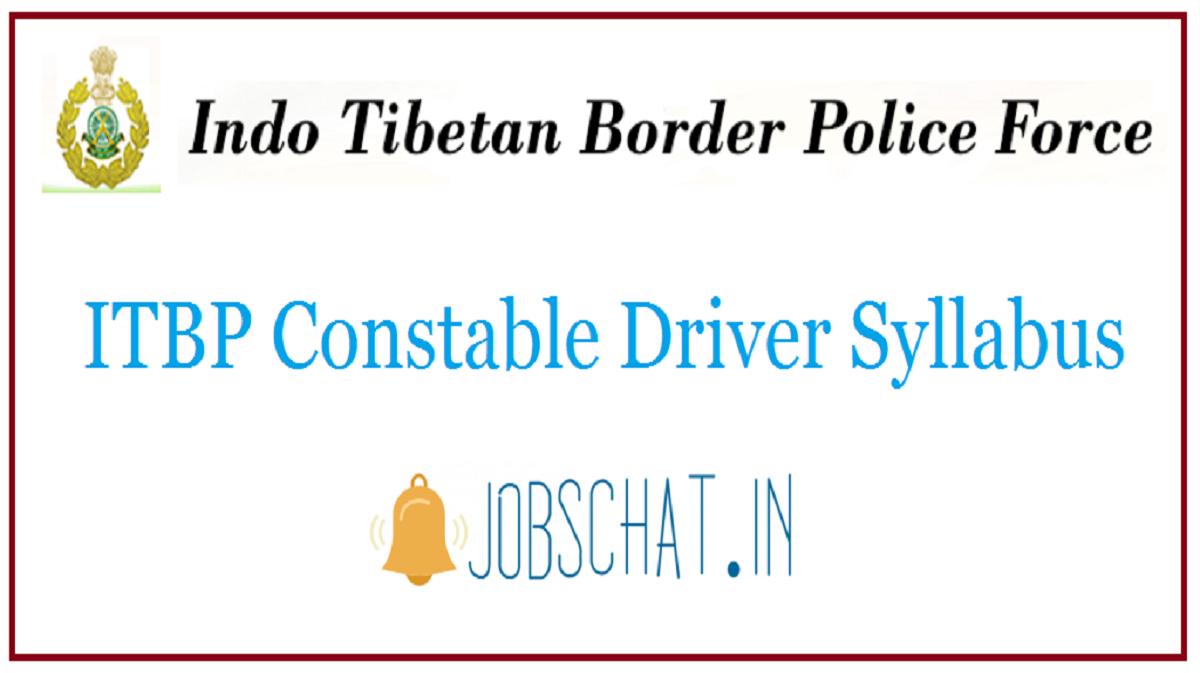 ITBP Constable Driver Syllabus