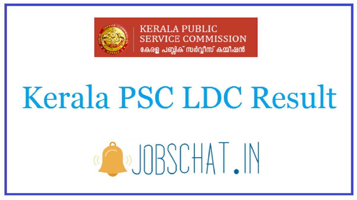 Kerala PSC LDC Result