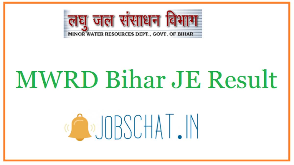 MWRD Bihar JE Result