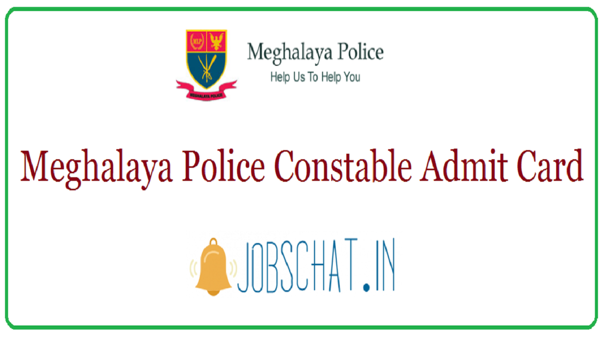Meghalaya Police Constable Admit Card