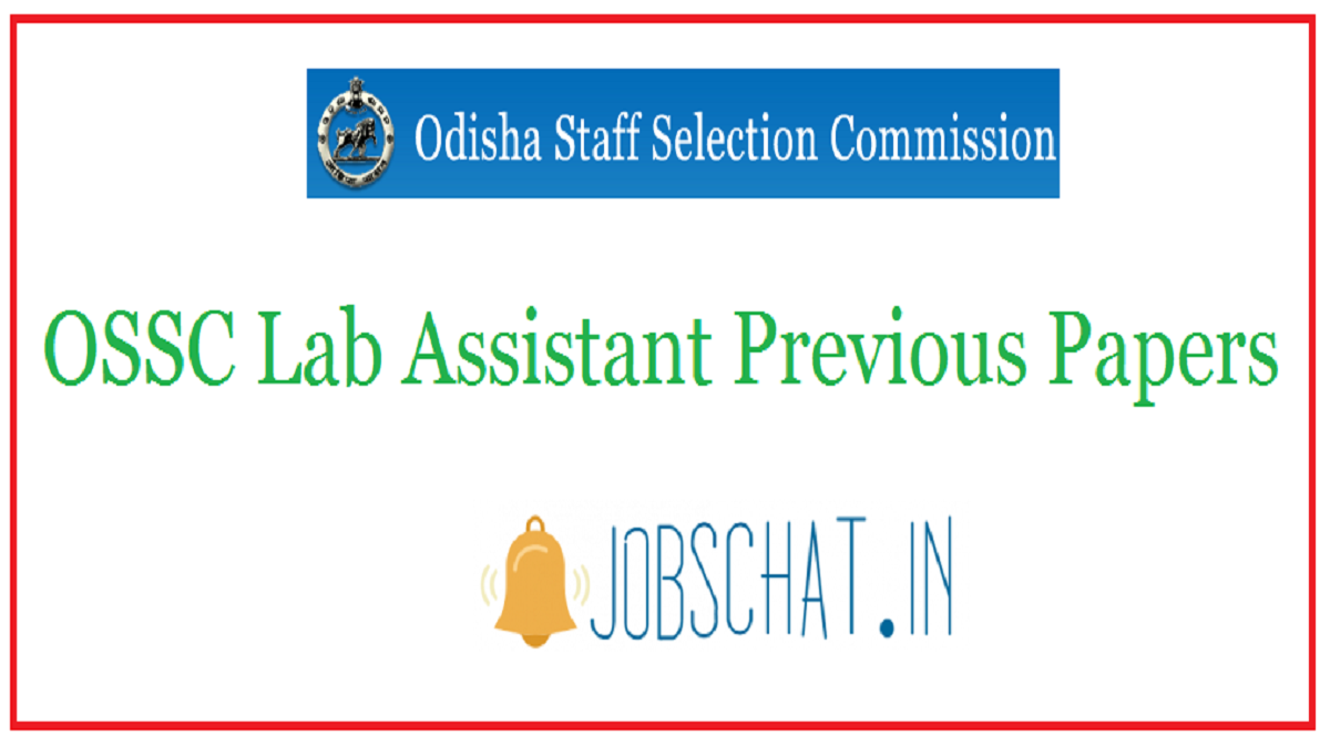 OSSC Lab Assistant Previous Papers