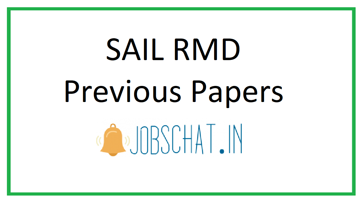 SAIL RMD Previous Papers
