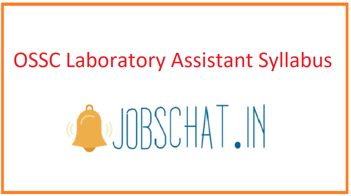 OSSC Laboratory Assistant Syllabus