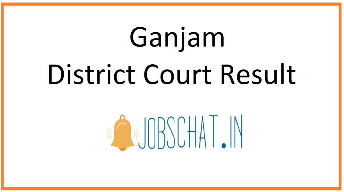 Ganjam District Court Result