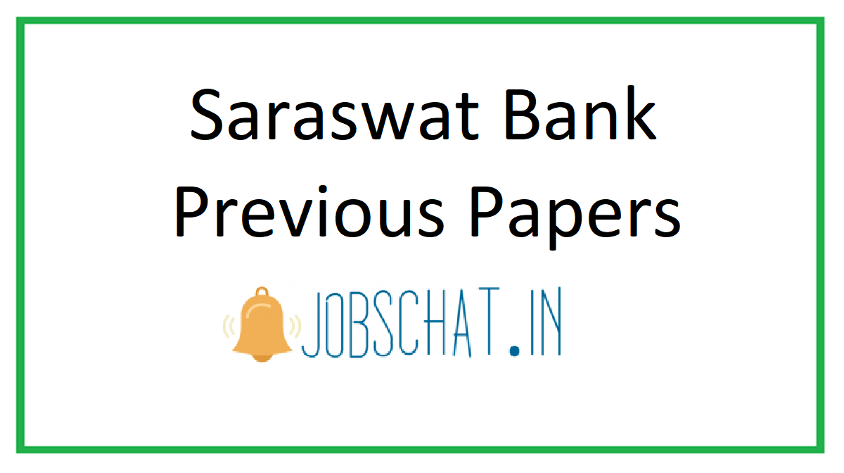 Saraswat Bank Previous Papers