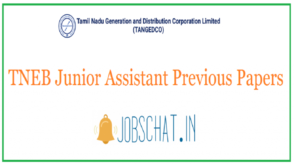 TNEB Junior Assistant Previous Papers