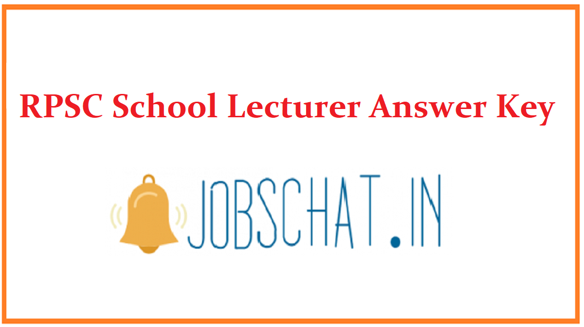 RPSC School Lecturer Answer Key