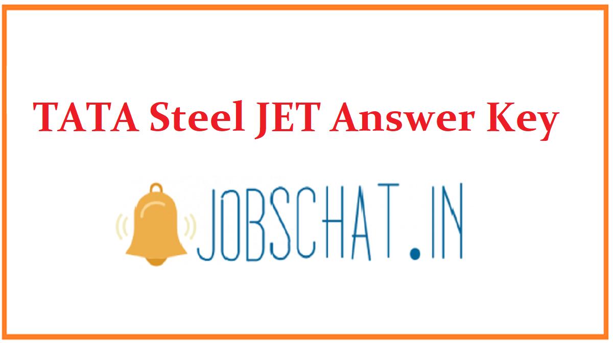 TATA Steel JET Answer Key