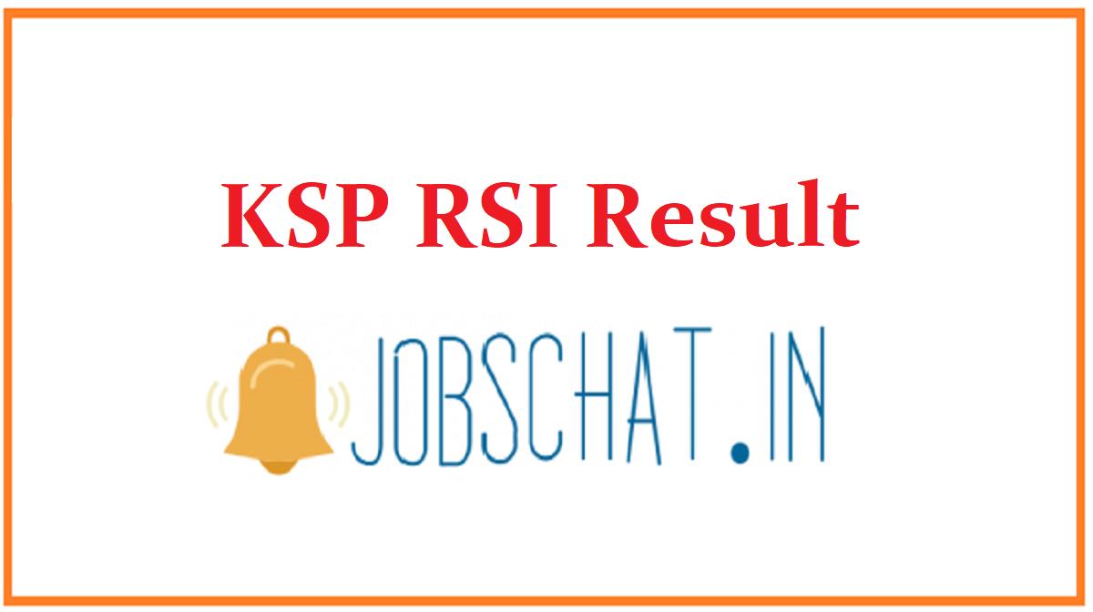 KSP RSI Result