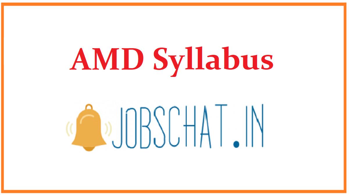 AMD Syllabus