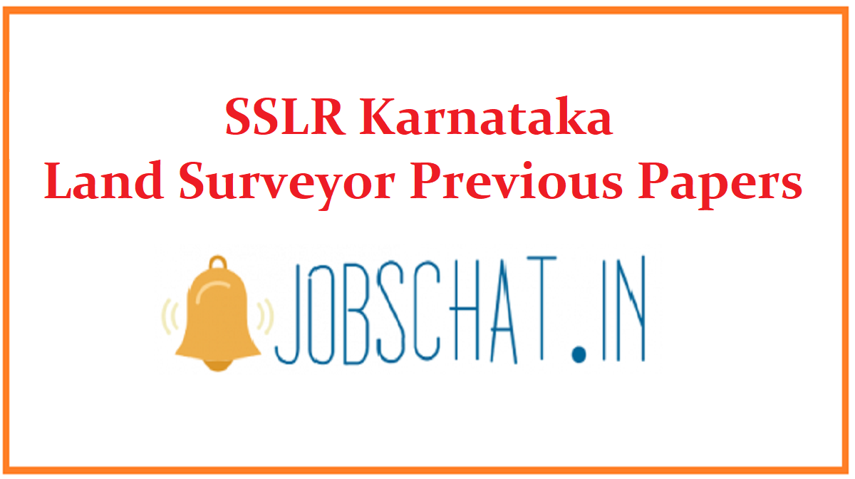 SSLR Karnataka Land Surveyor Previous Papers